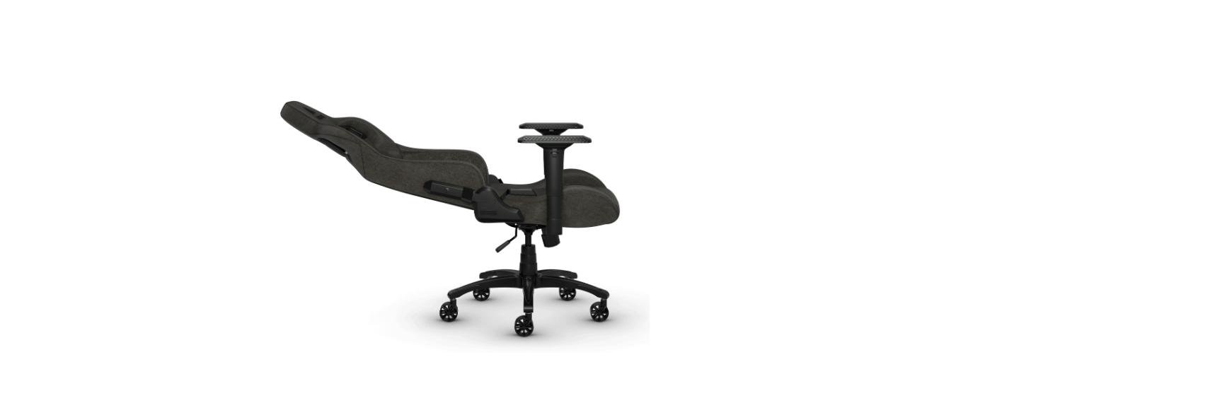 Ghế Game Corsair T3 RUSH Gray-Charcoal có thể tuỳ chỉnh vị trí ngồi dễ dàng