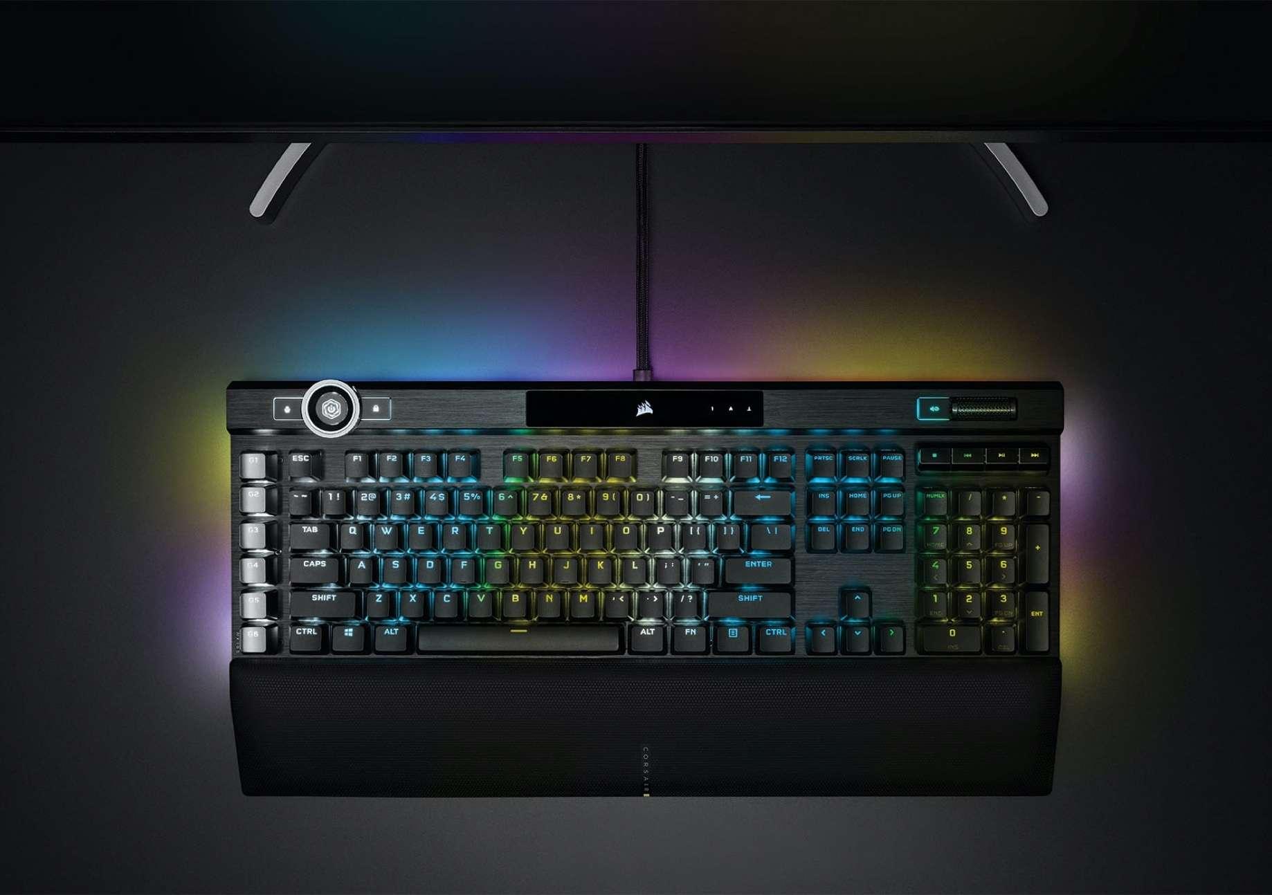 Bàn phím Corsair K100 RGB Speed switch (CH-912A014-NA)  có thiết kế chắc chắn và led rgb cực đẹp
