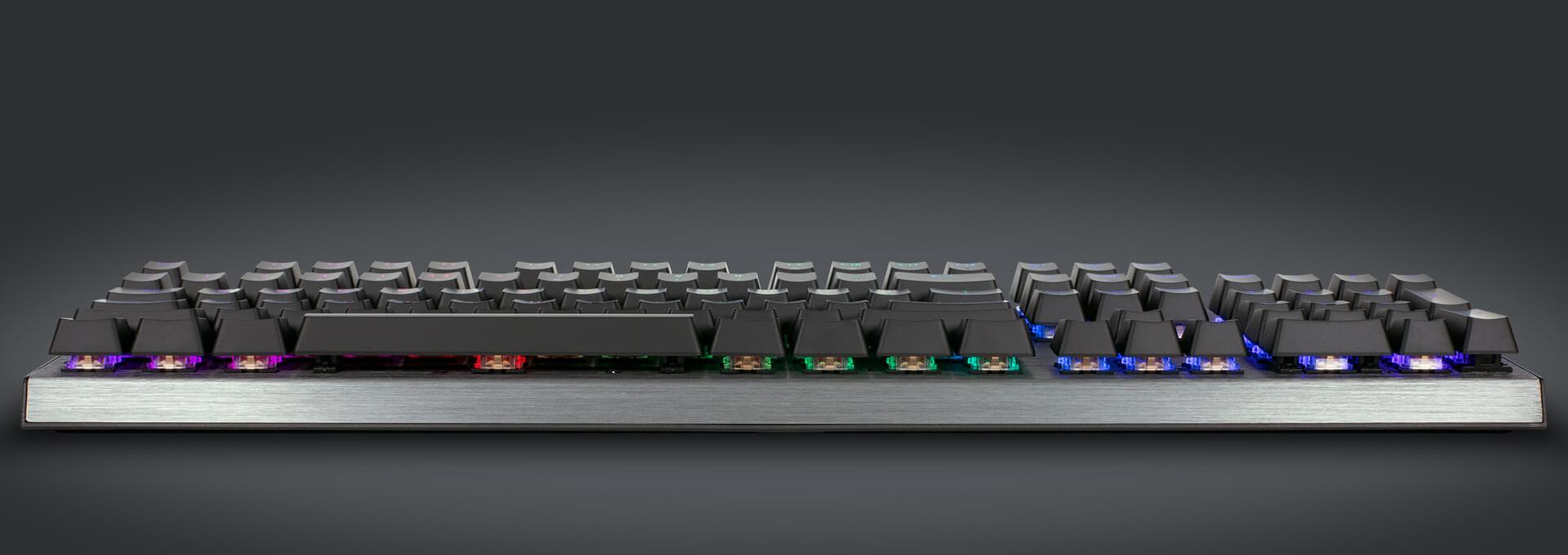 Bàn phím cơ Cooler Master CK350 (USB/RGB/Red switch) sử dụng layout truyền thống