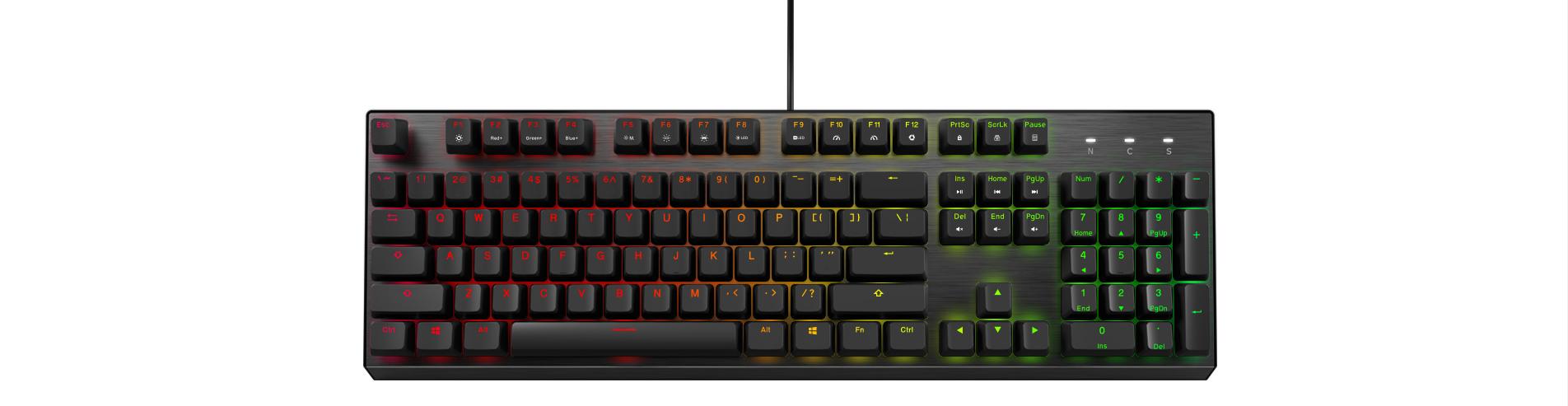 Bàn phím cơ Cooler Master CK350 (USB/RGB/Red switch) trang bị led rgb 16.8 triệu màu