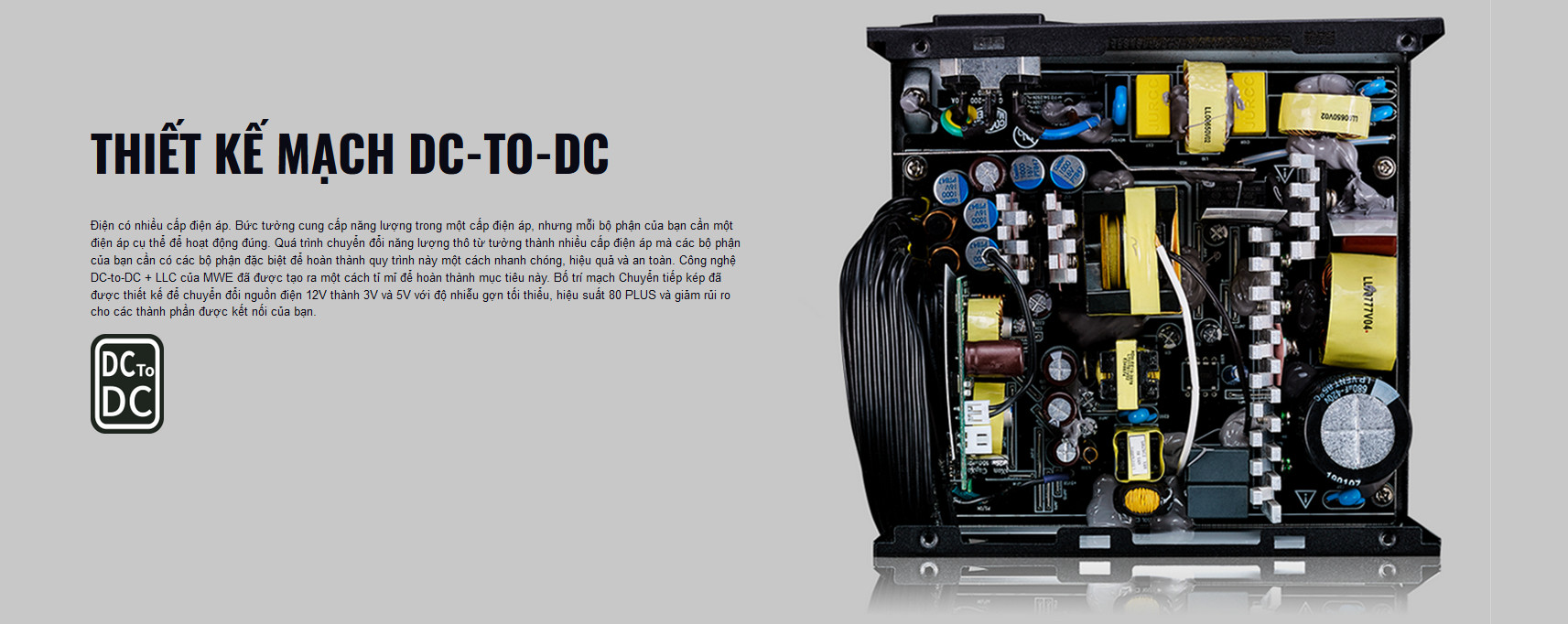 Nguồn máy tính Cooler Master MWE V2 230V 400 400W Plus Bronze (80 Plus Bronze/Màu Đen) giới thiệu thiết kế mạch