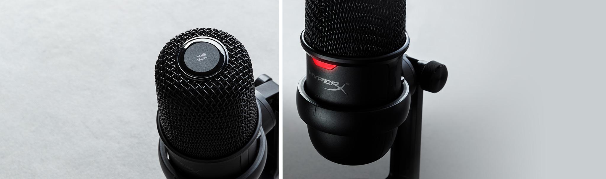 Microphone Kingston HyperX Solocast - Standalone Microphone HMIS1X-XX-BK/G có thể tắt tiếng chỉ với 1 chạm