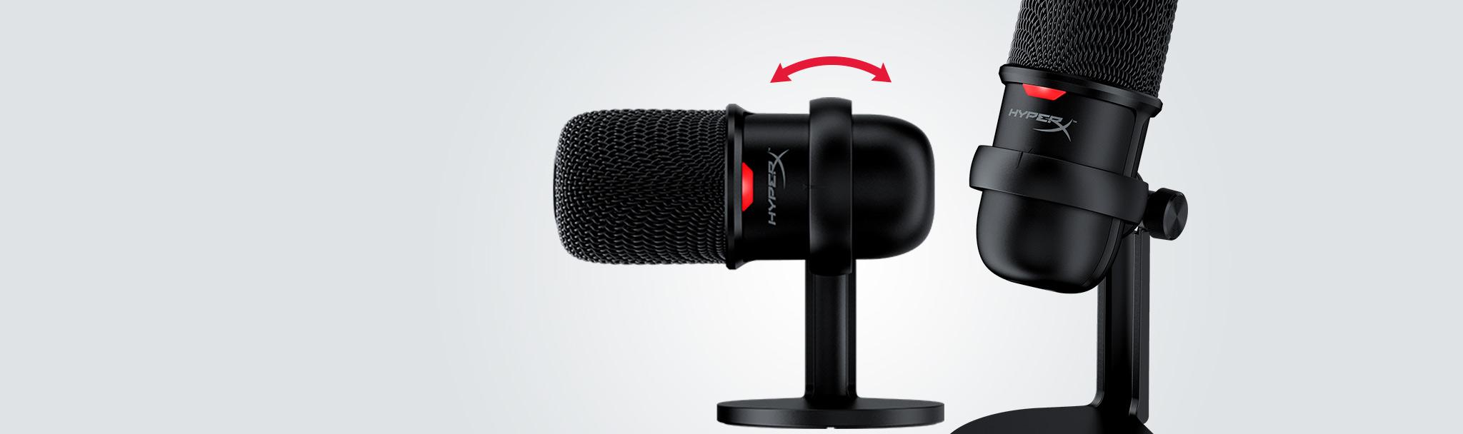 Microphone Kingston HyperX Solocast - Standalone Microphone HMIS1X-XX-BK/G tích hợp chân đế có thể dễ dàng điều chỉnh