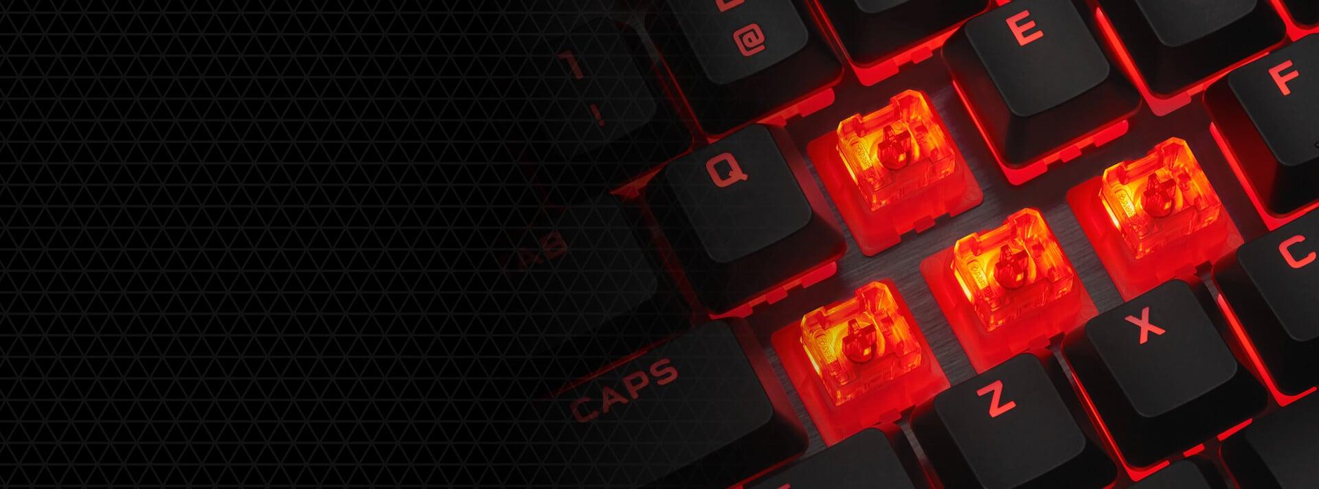 Bàn phím Corsair K60 PRO (USB/Red LED/Cherry MX Viola) (CH-910D029-NA) sử dụng switch Viola mới đến từ Cherry