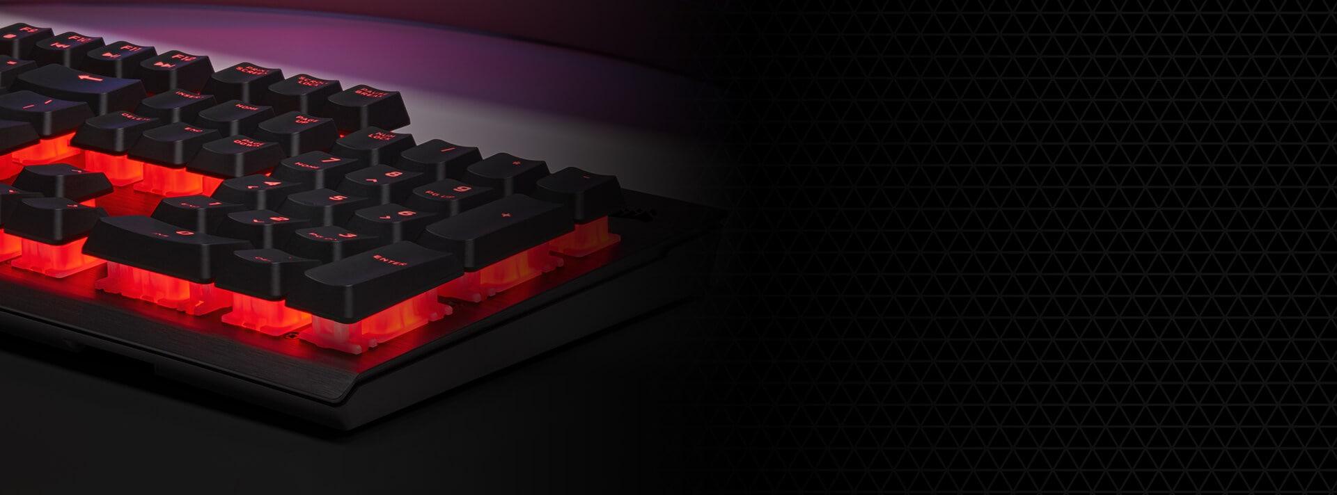 Bàn phím Corsair K60 PRO (USB/Red LED/Cherry MX Viola) (CH-910D029-NA) có thiết kế đẹp và chắc chắn