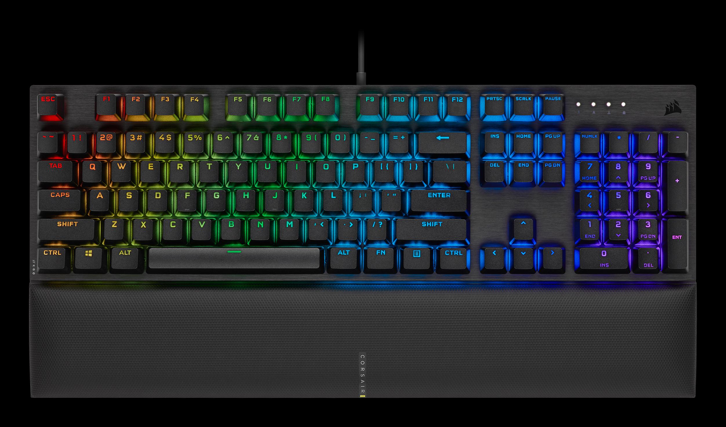 Bàn phím Corsair K60 PRO SE (USB/RGB LED/Cherry MX Viola) (CH-910D119-NA) tích hợp đèn led RGB 16.8 triệu màu