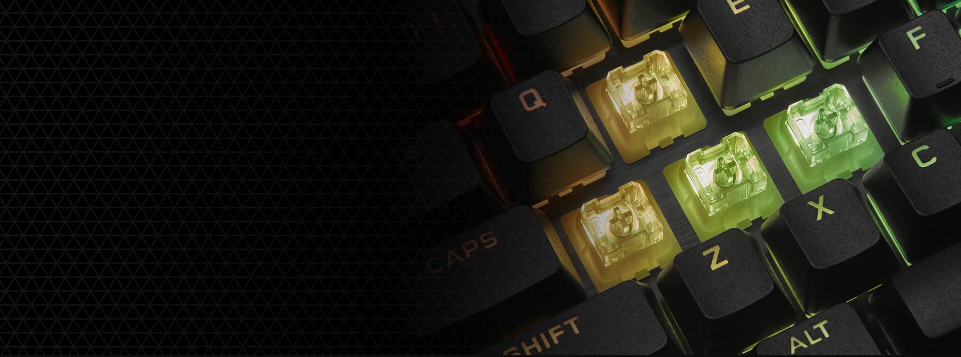 Bàn phím Corsair K60 PRO SE (USB/RGB LED/Cherry MX Viola) (CH-910D119-NA) sử dụng loại switch mới của Cherry