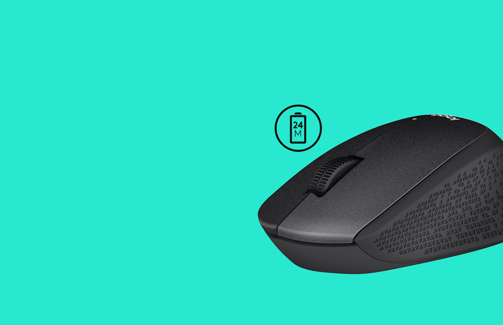 Chuột không dây Logitech M331 (USB/màu đỏ) có thời lượng pin trâu