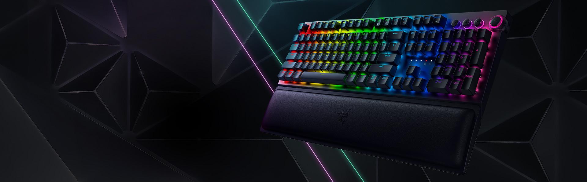Bàn phím Không dây Razer BlackWidow V3 Pro (USB Wireless/Green switch/Bluetooth) (RZ03-03530100-R3M1) trang bị led Chroma RGB 16.8 triệu màu
