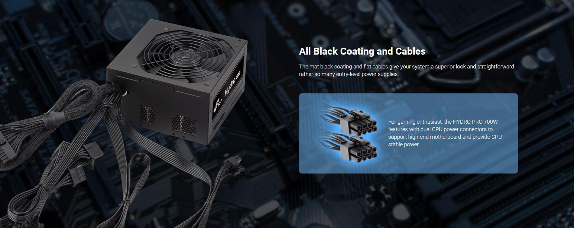 Nguồn FSP HYDRO PRO Series HP2-700  PPA7004304 (80 Plus Bronze/Màu Đen) giới thiệu 5