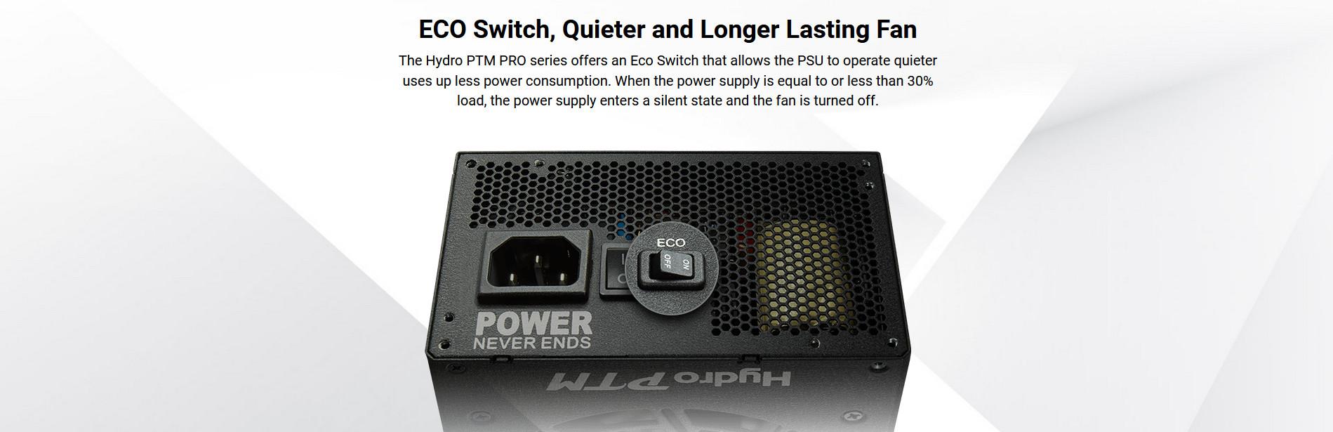 Nguồn FSP Power Supply HYDRO PTM PRO HPT2-650M  Active PFC (80 Plus Platinum/Full Modular /Màu Đen) giới thiệu 2