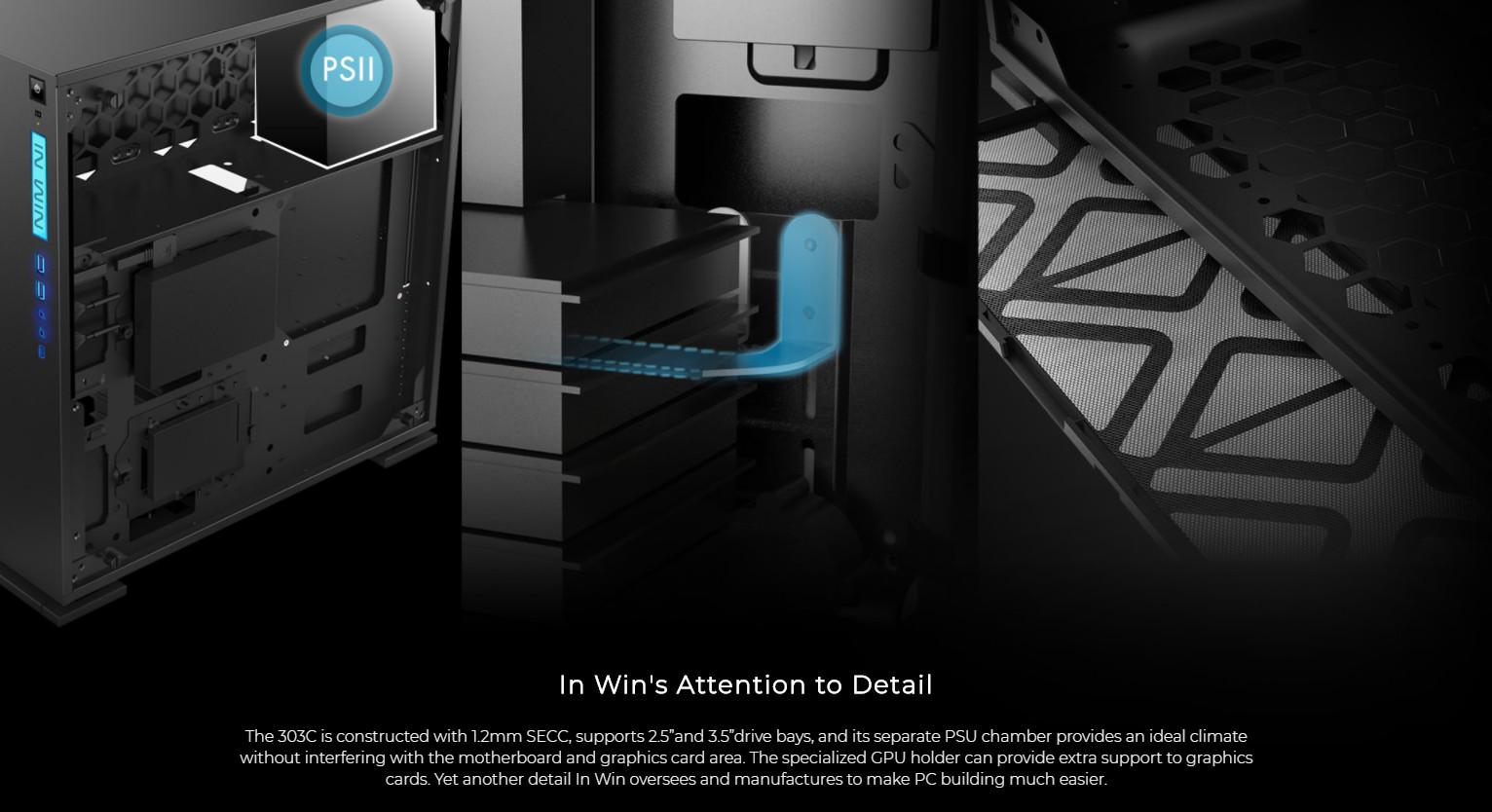 Inwin 303C Black giới thiệu 5