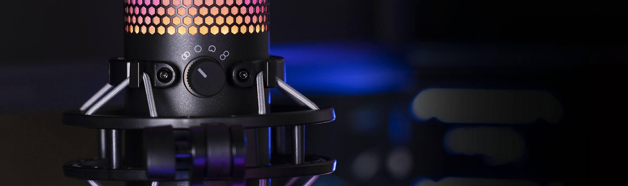 Microphone Kingston HyperX QuadCast S RGB - HMIQ1S-XX-RG/G có thể tuỳ chọn định dạng âm dễ dàng