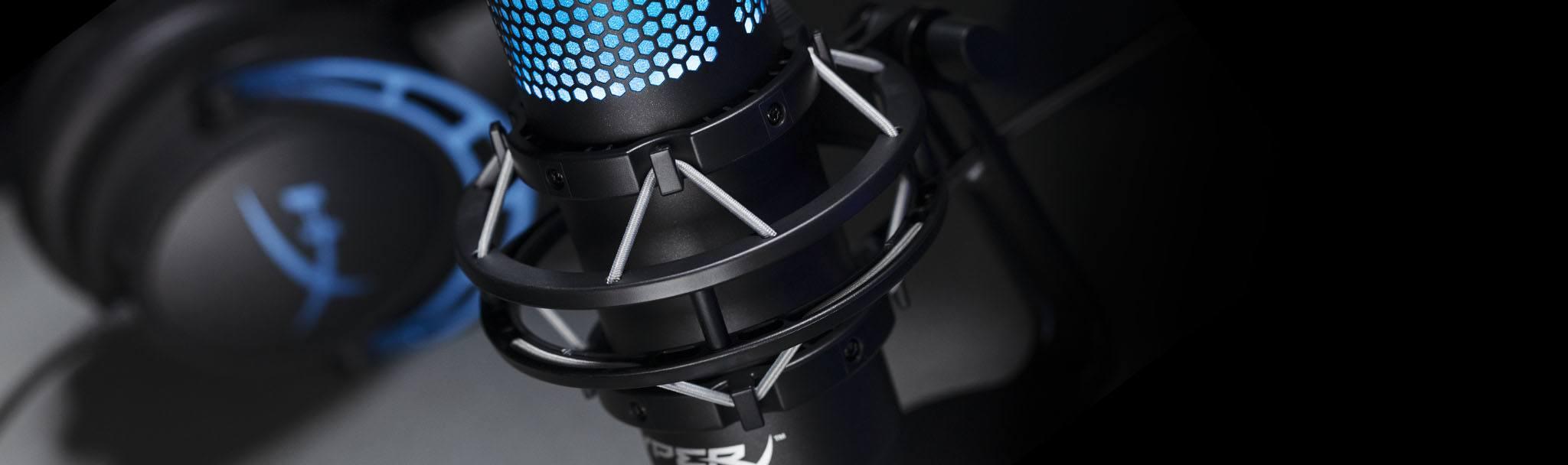 Microphone Kingston HyperX QuadCast S RGB - HMIQ1S-XX-RG/G trang bị giá chống xóc, chống rung