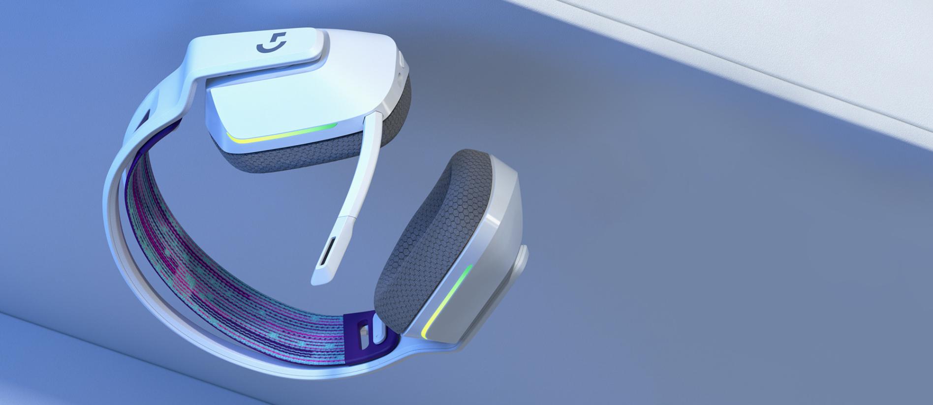 Tai nghe Gaming Logitech G733 LIGHTSPEED Wireless 7.1 RGB White có trọng lượng cực kỳ nhẹ