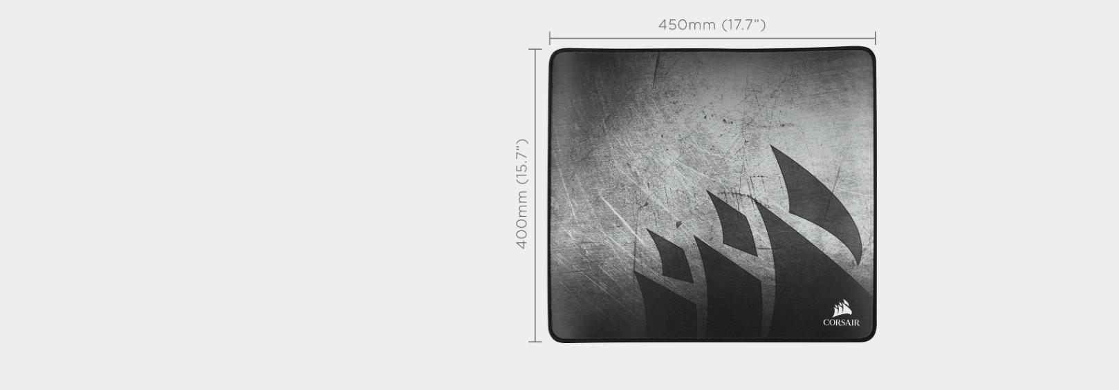 Bàn di chuột Corsair MM350 X-Large 450 x 400 x 5mm CH-9413561-WW Xám  có kích thước lớn