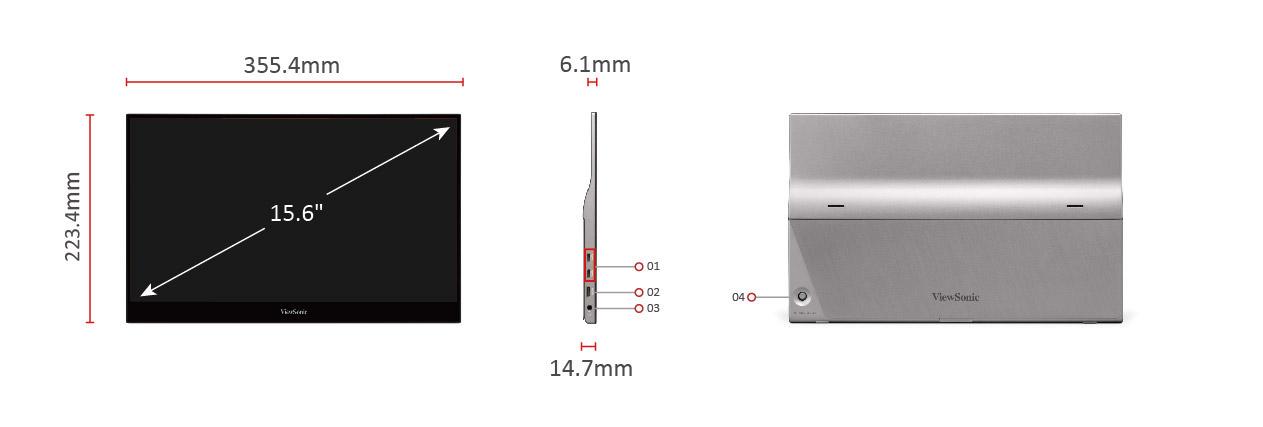 Màn hình di động Viewsonic TD1655-9