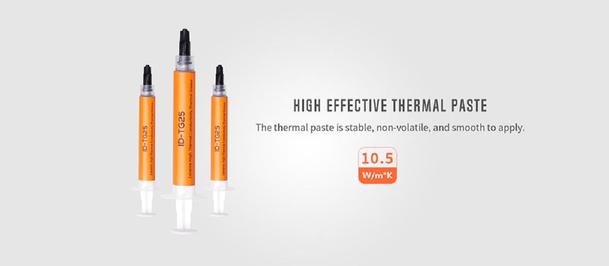 Tản nhiệt khí CPU ID-COOLING IS 47K đi kèm keo tản nhiệt có hệ số dẫn nhiệt cao