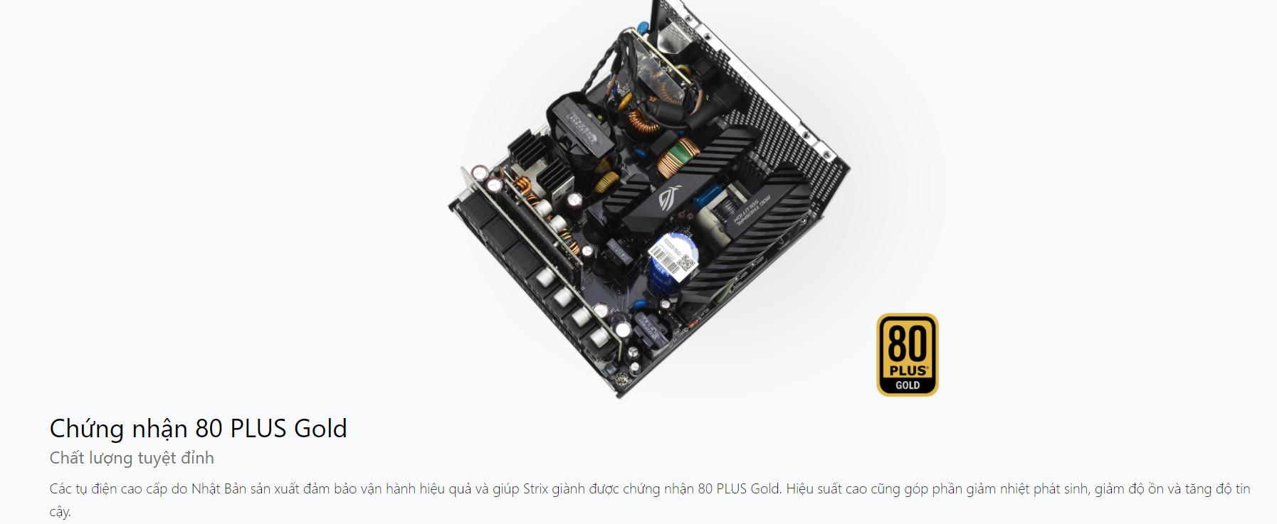 Nguồn ASUS ROG STRIX 850W GOLD - White Edition  850W ( Màu Trắng/80 Plus Gold / Full Modular) bên trong