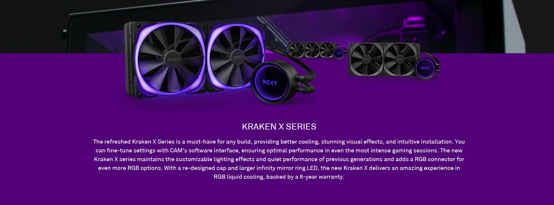 Tản nhiệt nước CPU NZXT Kraken X53 RGB với vòng led vô cựclớn hơn và có thể xoay được tự do