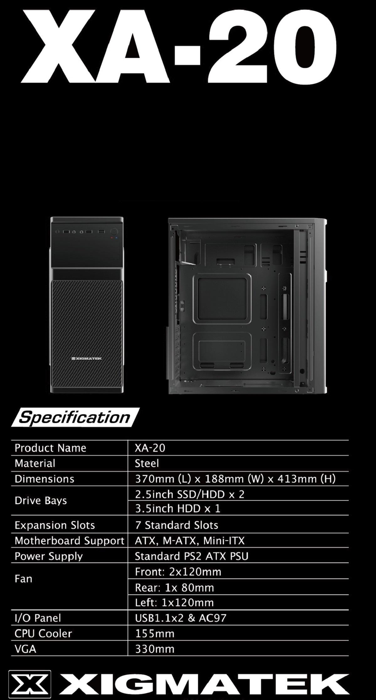 Xigmatek XA-20 giới thiệu