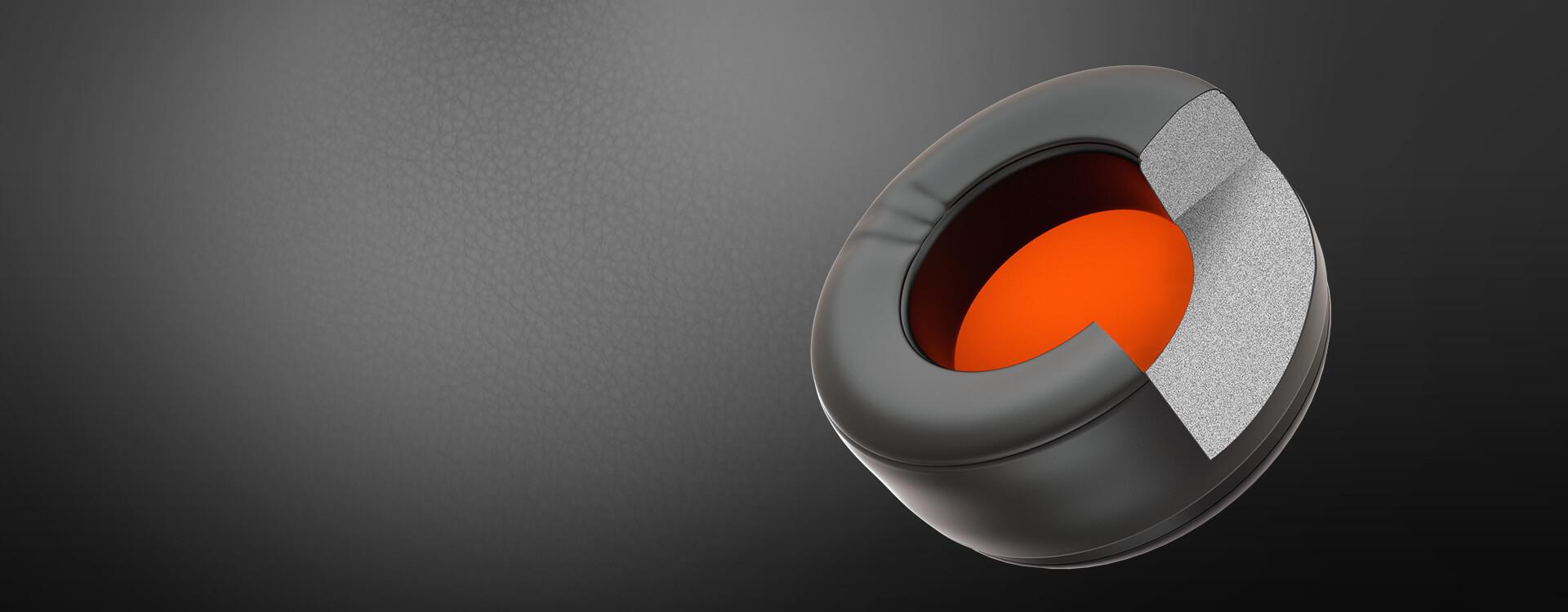 Tai nghe Cougar Immersa Pro Ti RGB - 7.1 Virtual Surround sử dụng đệm tai da dày cho khả năng cách âm tốt