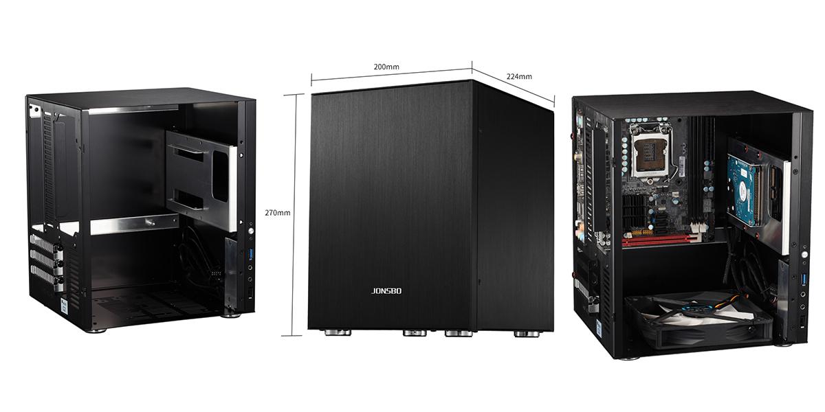 Case Jonsbo C2 Black (Mini Tower/Màu Đen) giới thiệu