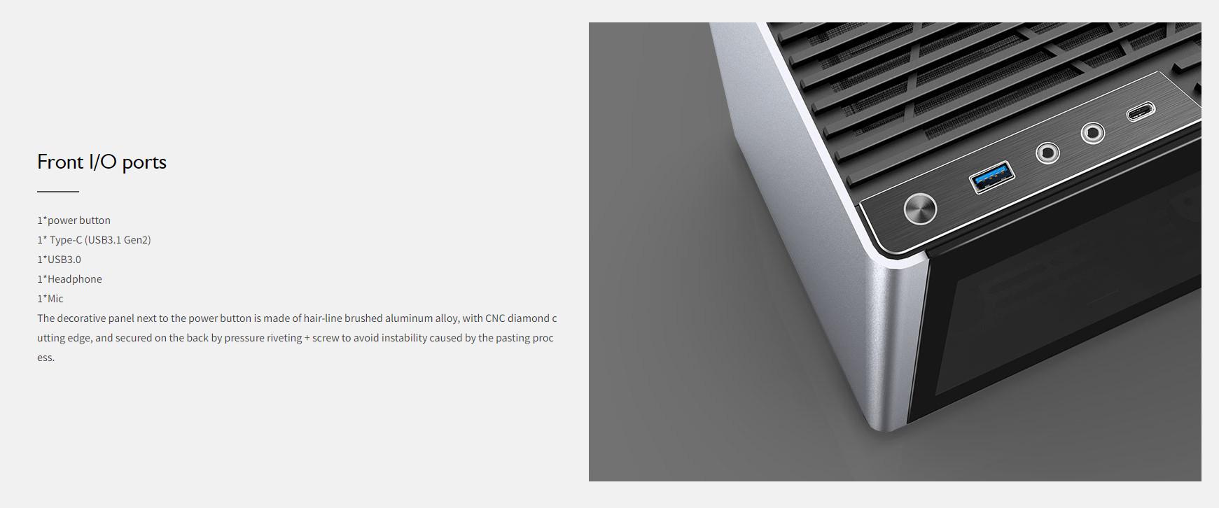 Case JonsboPlus  i100-G Silver  (Mini Tower/Màu Bạc) giới thiệu 4