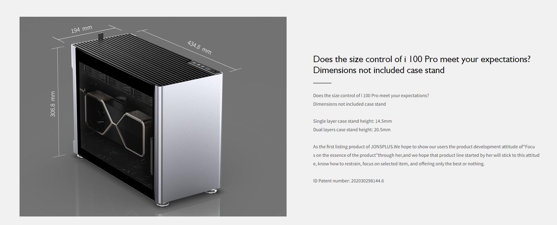 Case JonsboPlus  i100-G Silver  (Mini Tower/Màu Bạc) giới thiệu