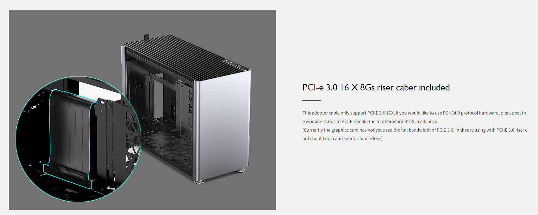 Case JonsboPlus  i100-G Silver  (Mini Tower/Màu Bạc) giới thiệu 10