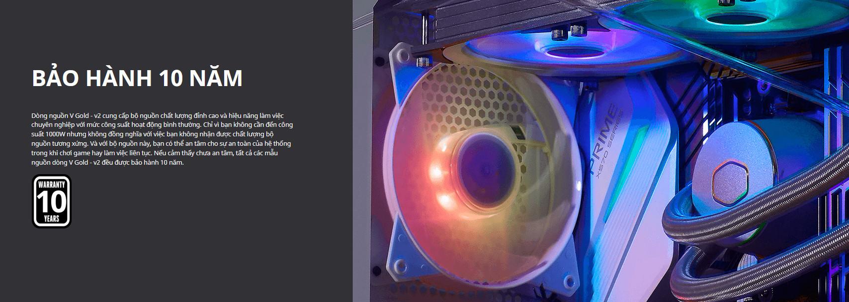 Nguồn máy tính Cooler Master 750W V Gold V2 White (80 Plus Gold/Màu Trắng) giới thiệu 6