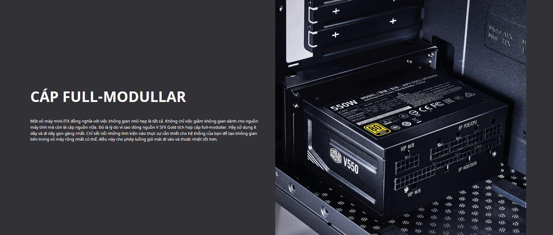 Nguồn máy tính Cooler Master 650W V SFX Gold   (80 Plus Gold/Màu Đen) full modular connector