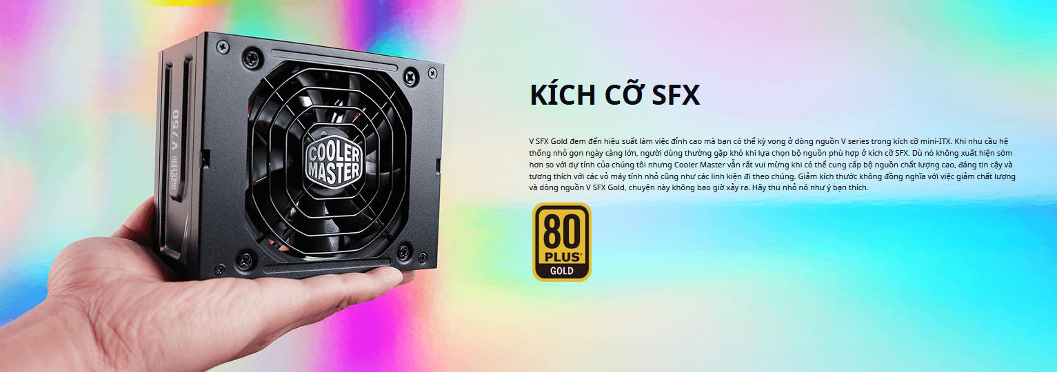 Nguồn máy tính Cooler Master 750W V SFX Gold   (80 Plus Gold/Màu Đen) SFX