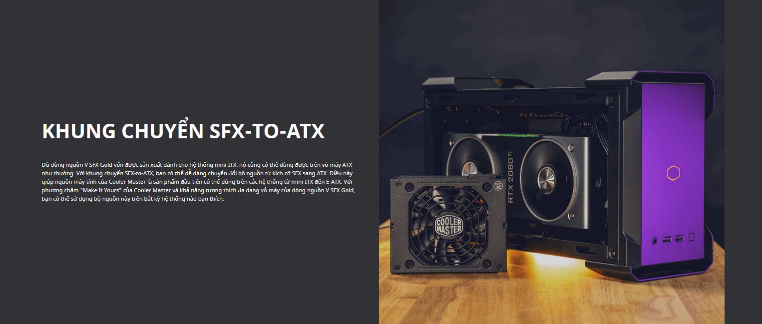 Nguồn máy tính Cooler Master 850W V SFX Gold (80 Plus Gold/Màu Đen) intro 3