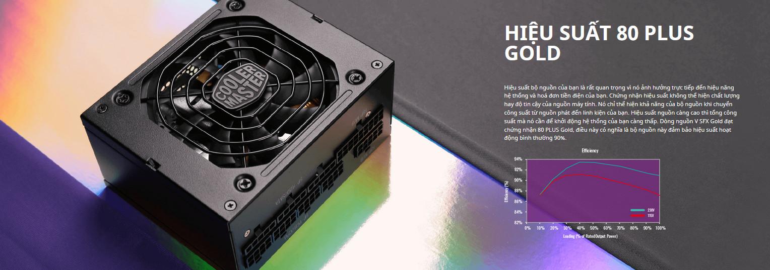 Nguồn máy tính Cooler Master 850W V SFX Gold  (80 Plus Gold/Màu Đen) intro 2