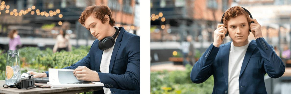 Tai nghe không dây chống ồn Sony WH-1000XM4BME màu Đen có thể nhận diện hành động