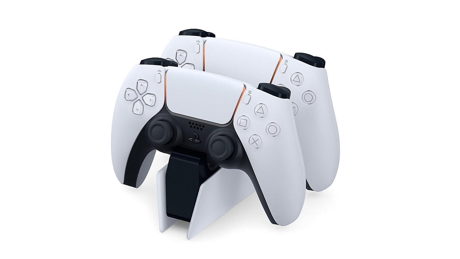 Tay cầm chơi Game Sony PS5 DualSense có thể sạc nhanh dễ dàng với trạm sạc