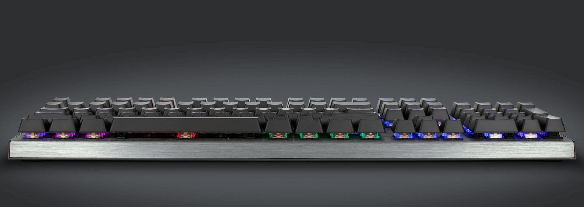 Bàn phím Cooler Master CK350 V2 (USB/RGB/Blue sw) có thiết kế layout tiêu chuẩn