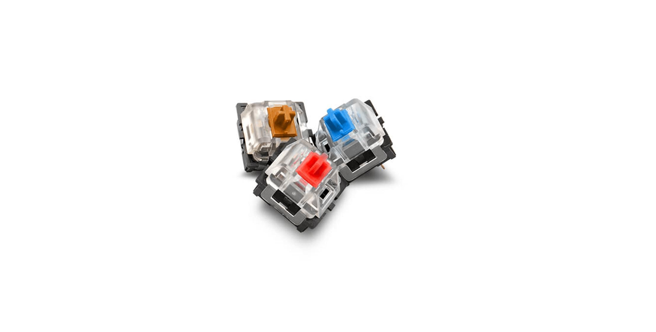 Bàn phím Cooler Master CK350 V2 (USB/RGB/Blue sw) sử dụng switch Outemu có độ bền lên đến 50 triệu lần nhấn