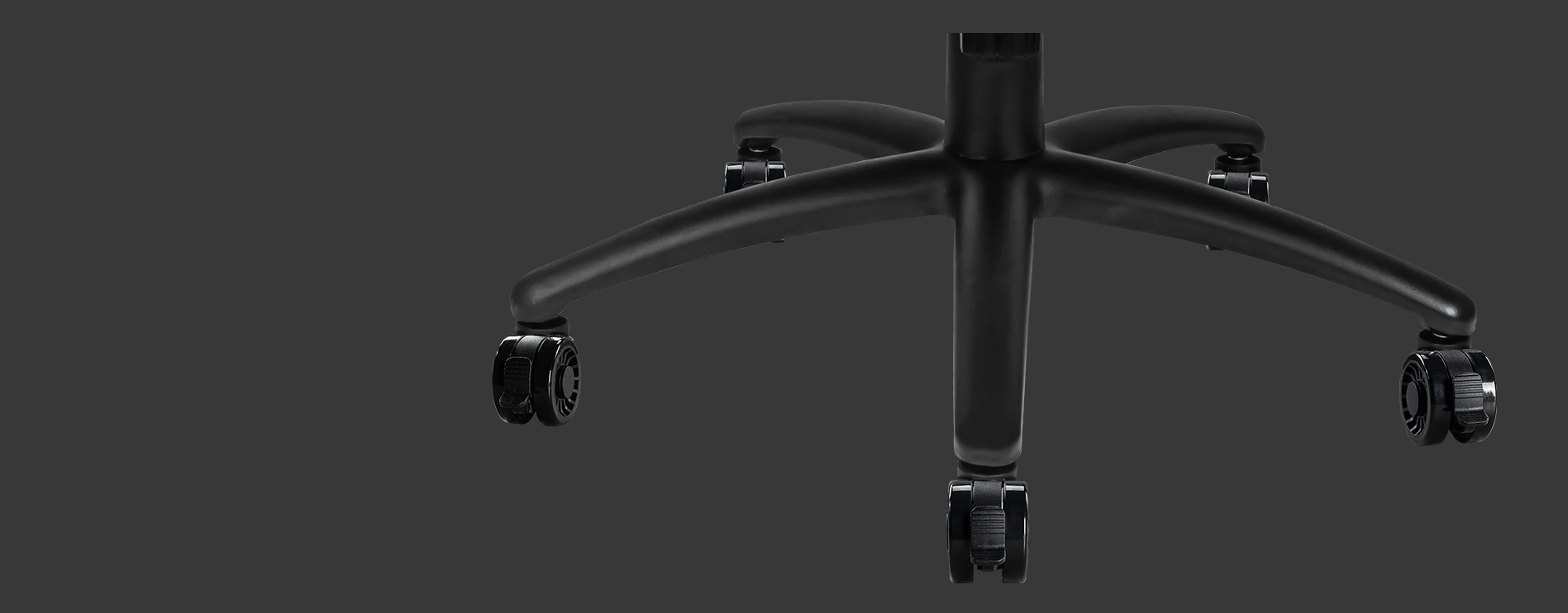 Ghế Gaming MSI MAG CH120 I có thiết kế chân sao 5 cánh kim loại chắc chắn