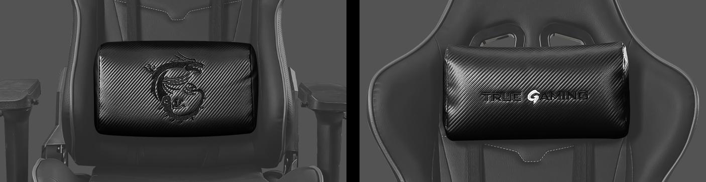 Ghế Gaming MSI MAG CH120 I đi kèm thêm gối và đệm lưng