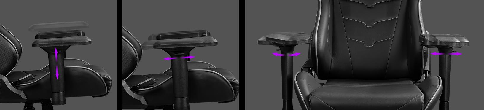Ghế Gaming MSI MAG CH120 I có thiết kế tay ghế 4D tiện lợi