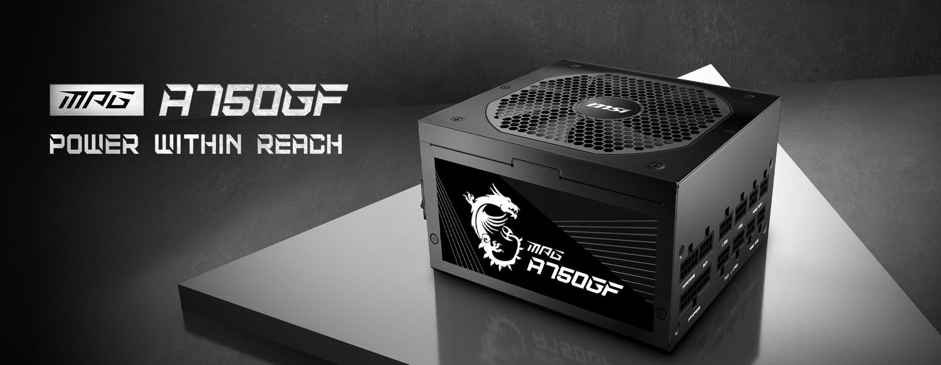 Nguồn máy tính MSI MPG A750GF 750W (80 Plus Gold/Full Modular/Màu Đen) giới thiệu