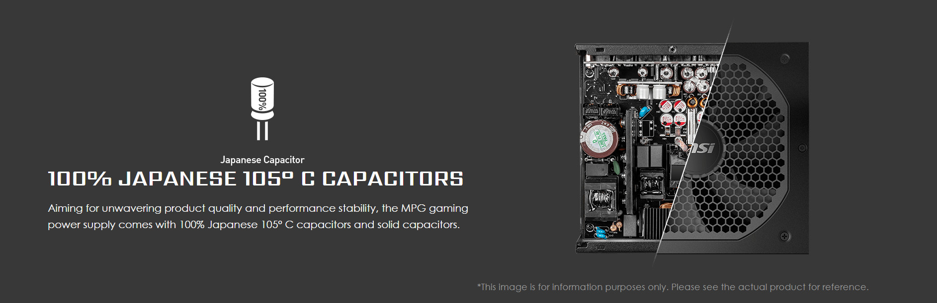 Nguồn máy tính MSI MPG A750GF 750W (80 Plus Gold/Full Modular/Màu Đen) tụ nhật