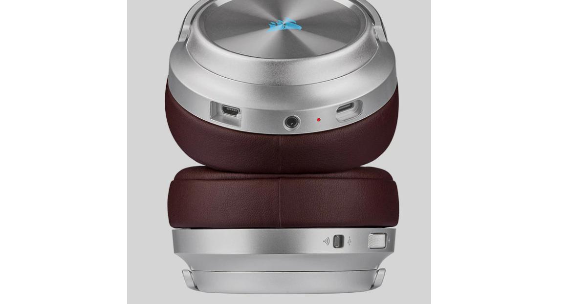 Tai nghe không dây Corsair Virtuoso RGB SE Espresso - CA-9011181-AP trang bị đệm da Memory foam êm ái