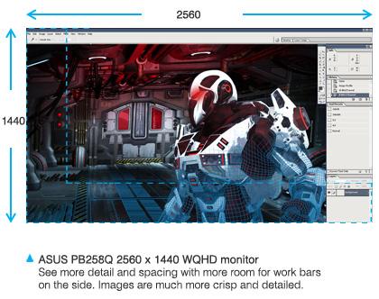 Màn hình Asus Pro Art PB258Q giải trí
