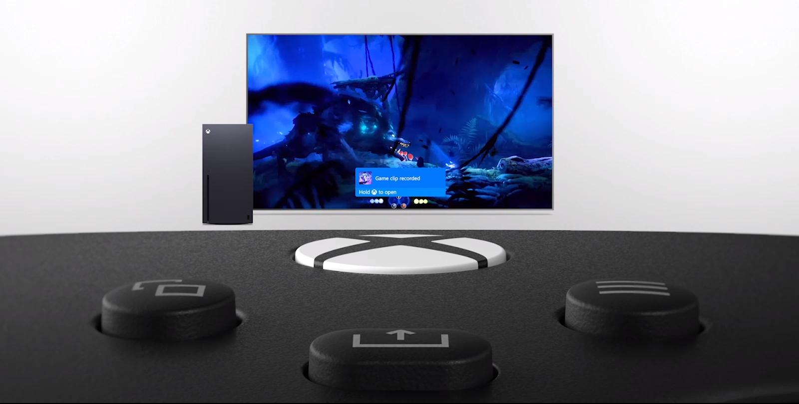 Tay cầm chơi game Xbox Series X Controller - Shock Blue tích hợp thêm nút Share chuyên dụng