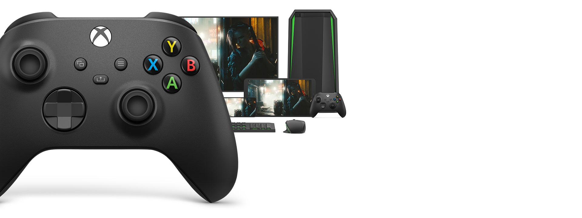 Tay cầm chơi game Xbox Series X Controller - Shock Blue có thể chuyển đổi dễ dàng với các thiết bị khác nhau
