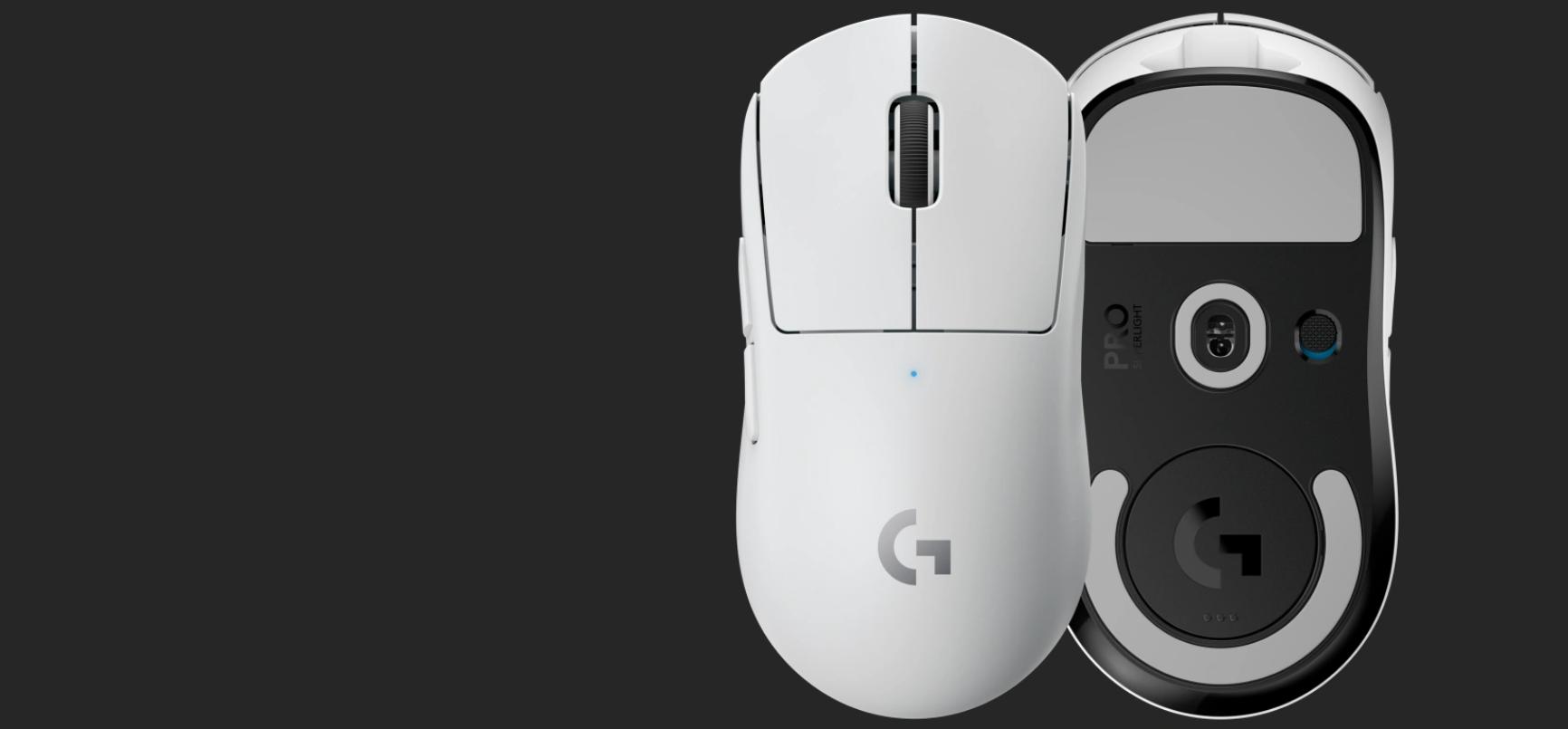 Chuột không dây Logitech Pro X Superlight White (USB/RGB/Trắng/910-005944) sử dụng bộ feet chuột PTFE lớn