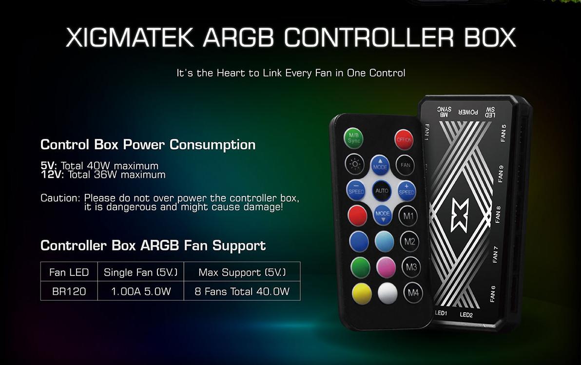 Fan Case Xigmatek GALAXY III ROYAL - BR120 ARGB thông số